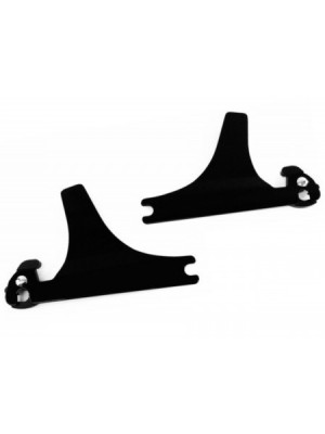 Quick Release Gloss Black Sideplates for Harley Davidson Softail Models like Fatboy Deluxe LO S Night Train Cross Bones Springer Years 2006-2017 Equivalent to 54258-10A