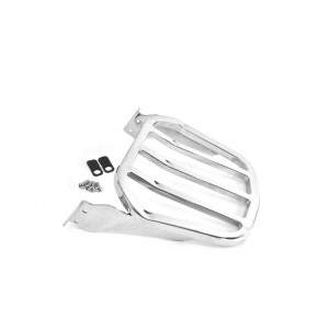 Softail Wide Tapered Luggage Rack Chrome Sport Five Bars Rear Carrier for Harley Davidson Sissy Bar Sissybar Backrest Fat Boy Lo FatBoy S Night Train Cross Bones Springer Custom Convertible CVO 2006-2017 equivalent to 53896 06 53896-06