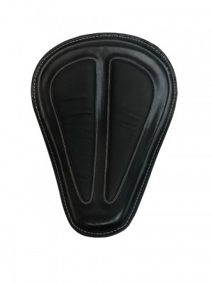 Black Leather Solo Spring Saddle Seat for Harley Davidson 2004-2020 Sportster XL Roadster Iron 883 1200, 2006-2017 Dyna like Street Bob Low Rider, 2008-2017 Softails Heritage Classic Equivalent to HD 52000279 use with Spring Kits 54074-10B 54075-10B