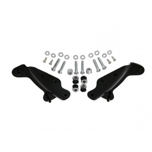 Gloss Black Detachable Sissy Bar Backrest 4 Four Point Docking Mounting Hardware Kit for Harley Davidson Touring Like Street Glide Road King Quick Release Luggage Rack Rear Carrier Equivalent to Harley 54246-09A 09 54246