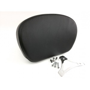 Smooth Larger Passenger Backrest Pad & Chrome Mounting Triangle Bracket for Years 1997-2020 HD Touring Models like Street Glide Road King Electra Glide CVO Ultra Limited Sissybar Uprights Like 52627-09A 52427-09A Equivalent to Harley Davidson 52886-98D 98