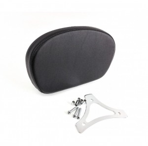 Smooth Smaller Passenger Backrest Pad & Chrome Mounting Triangle Bracket for Years 1997-2020 HD Touring Models like Street Glide Road King Electra Glide CVO Ultra Limited Sissybar Uprights Like 52610 09A Equivalent to Harley Davidson 51575 05A  05