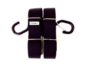 """1.5"""" TIE DOWNS WITH EXTENSION LOOP- CAM BUCKLE"""