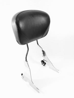 Tall Sportster Backrest & Bucket Pad-Chrome