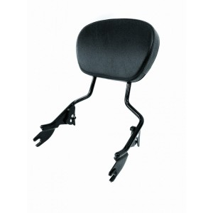 Tall Gloss Black Passenger Backrest Standard Sissy Bar & Pad For Harley Davidson Touring like Street Glide Road King Ultra Electra CVO HD 2009-2020 Detachable Quick Release SissyBar Rear Back Rest Equivalent to 54247 09A 09 52886 98D 98