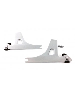 Dyna Chrome Sideplates for Harley Davidson Detachable Sissy Bar Backrest Street Bob Fat Bobber Super Wide Glide Low Rider Years 06-2017 Equivalent to Harley 52866-06A Side Plates Plate  FXDB FXDF FXDWG FXDL QUICK RELEASE
