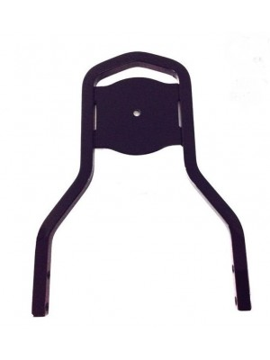 """Low Short Medallion Style Sissy Bar Upright Black Passenger Backrest for Harley Davidson Softail Fat Boy Deluxe Heritage Dyna Street Bob Low Rider Sportster Iron 12"""" inch like 52300024  Equivalent to Harley 51851-09"""