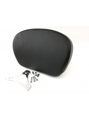 Large Smooth Passenger Backrest Pad with Chrome Mounting Bracket