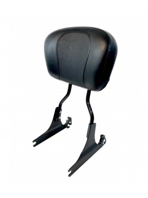 Tall Gloss Black Quick-Release Softail Roundbar Backrest & Larger Fat Boy Style Pad for Harley Davidson Softail Models Deluxe FLSTN Springer Classic Night Train 2000-2017 equivalent to Harley Davidson 52347-97 52300030 54248-10A